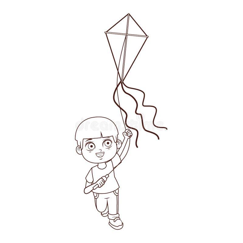 Cute boy cartoon. Vector illustration graphic design stock illustration
