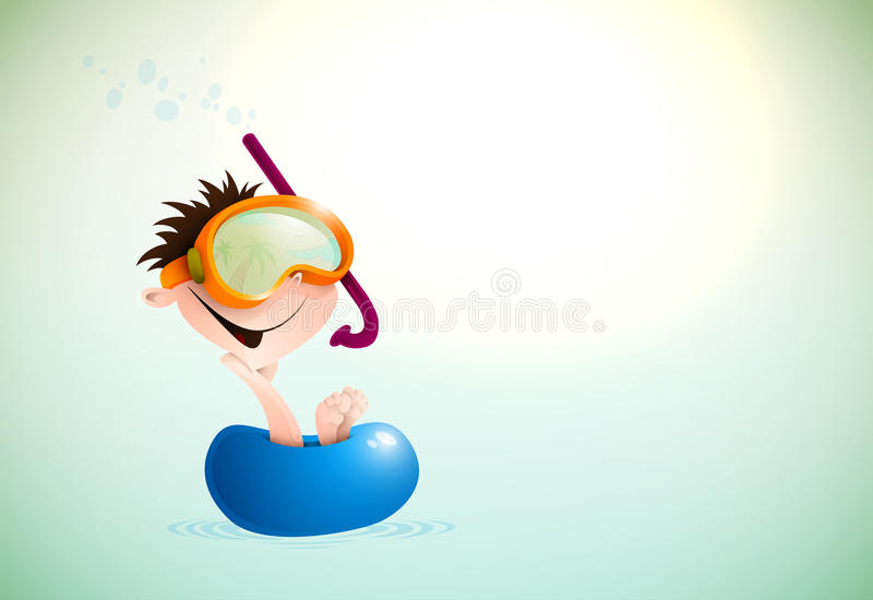 Cute Boy Enjoying Summer At The Beach Stock Image