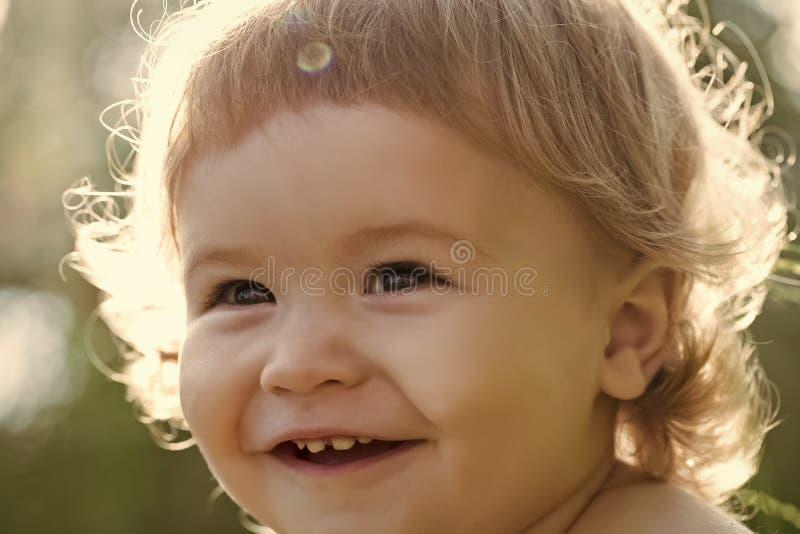 Cute boy outdoor stock photo