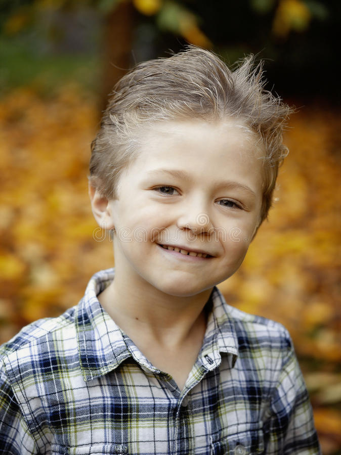 Cute boy outdoor royalty free stock image