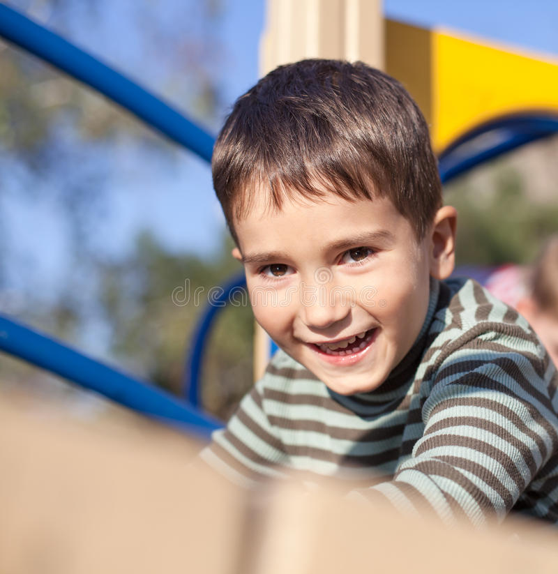 Download Cute boy on the playground stock image. Image of looking - 28767487