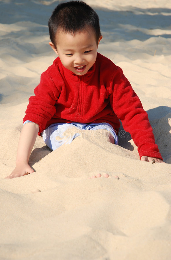 Download Cute Boy Playing stock image. Image of tropical, child - 7974743