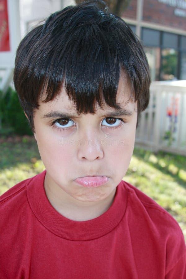 Cute Boy Pouting Royalty Free Stock Photo