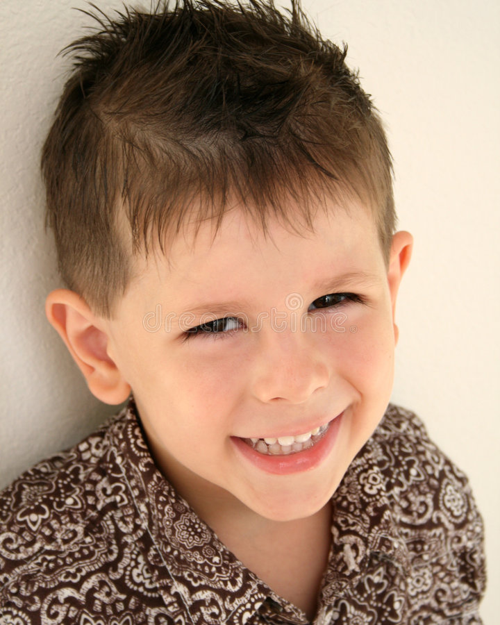 Download Cute boy smiling stock image. Image of grinning, brown - 6692135