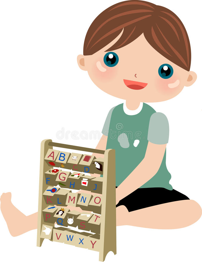 Download Cute Boy Studying Stock Photo - Image: 10813440