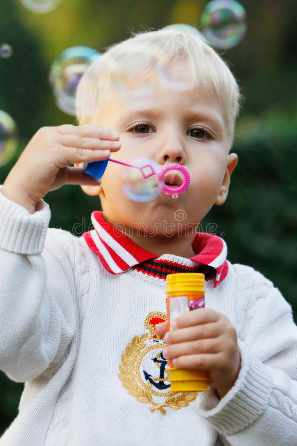 Free Cute Boy With Soap Bubbles Stock Photos - 11576213
