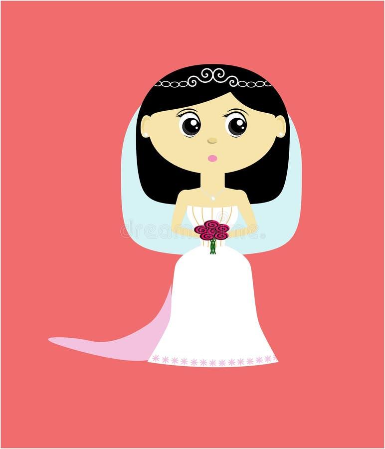 Cute Bride stock illustration
