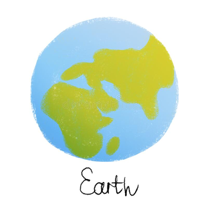 Free Cute Bright Colorful Earth Planet. Isolated On White Background Royalty Free Stock Photography - 215031787