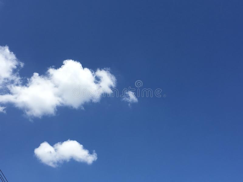 white cloud, and blue sky royalty free stock photography