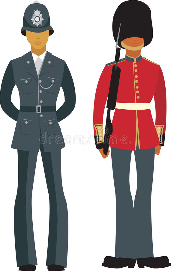 Download Cute British officers stock vector. Image of person, copper - 11036437