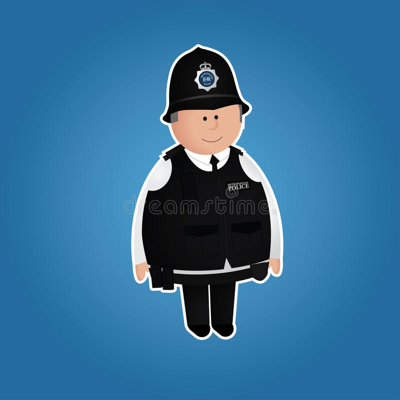 Download Cute British Police Officer Character Stock Vector - Image: 28051968