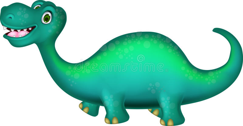 Download Cute brontosaurus cartoon stock illustration. Image of funny - 32219857