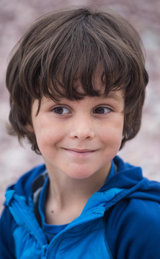 Cute brown-eyed boy royalty free stock photo