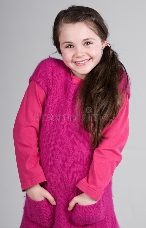 Download Cute Brown Haired Child stock image. Image of smile, hair - 13259125