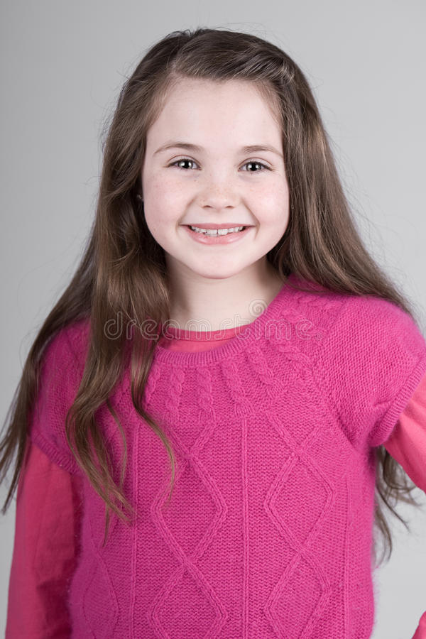 Download Cute Brown Haired Child stock photo. Image of pleased - 13259186