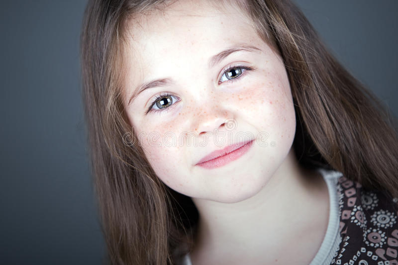 Download Cute Brown Haired Child Smiling Royalty Free Stock Photography - Image: 11417227