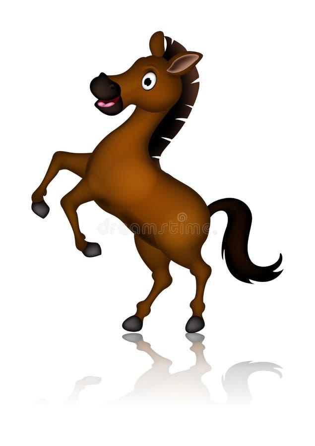 Download Cute Brown Horse Cartoon Posing Stock Illustration - Image: 32219850