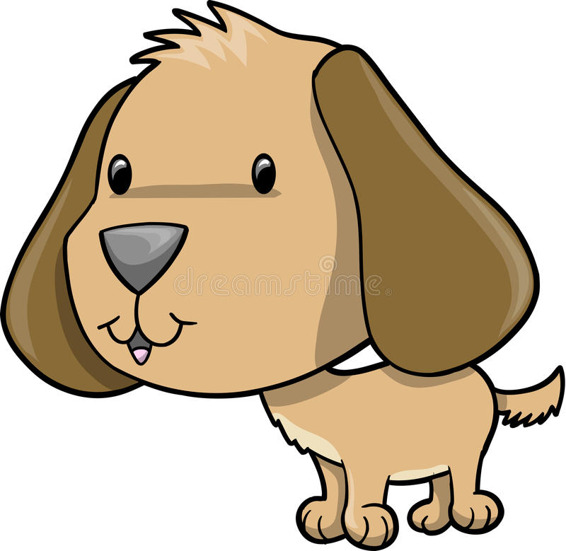 Cute Brown Puppy Dog royalty free illustration