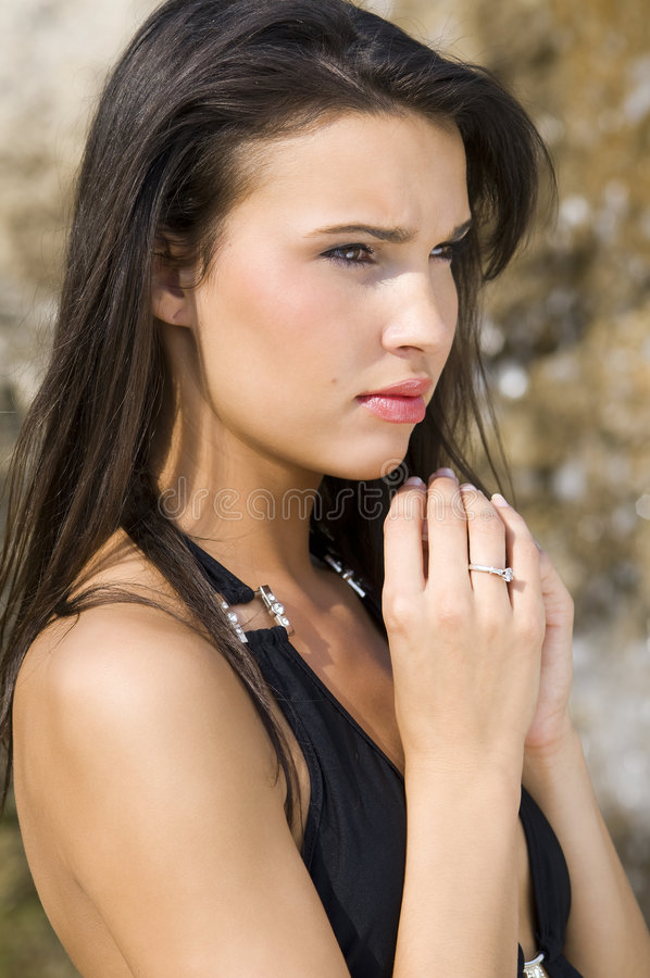 Download Cute brunette stock image. Image of attractive, glamour - 5602447
