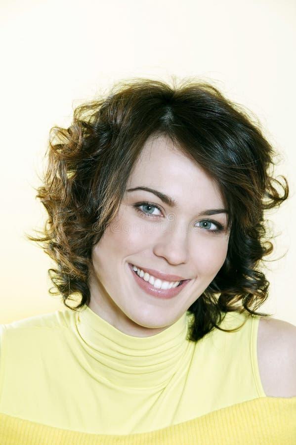 Download Cute Brunette Young Woman Portrait Stock Photo - Image: 33878128