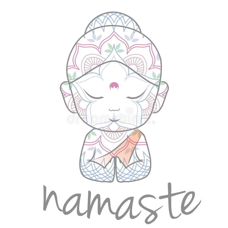 Free Cute Buddha Sending Greetings Stock Photo - 129139280