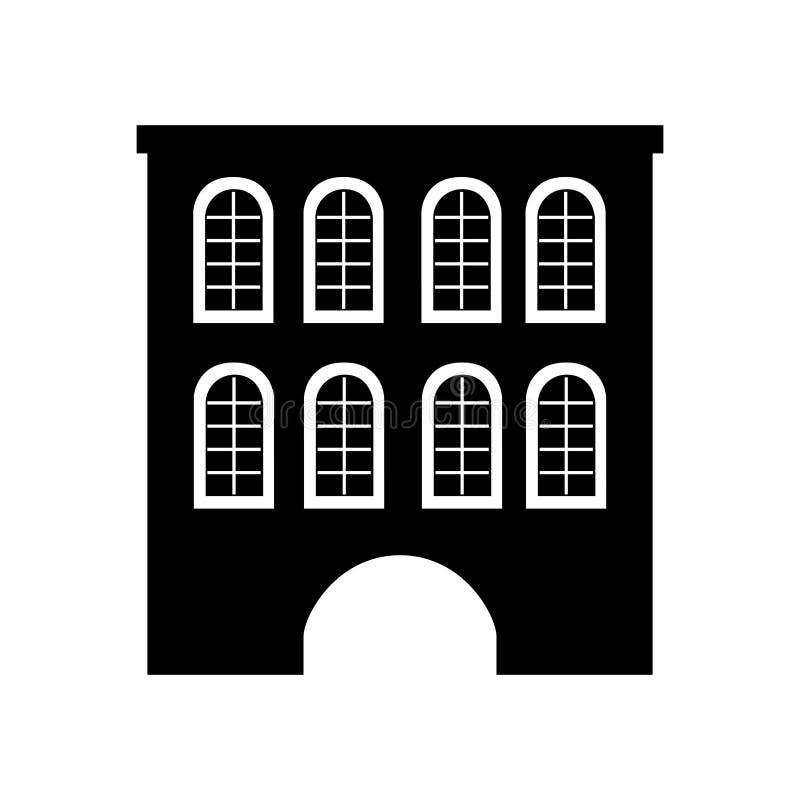 Cute building antique icon. Vector illustration design stock illustration
