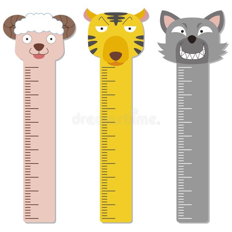 Cute Bumper Children Meter Wall. Stock Vector - Illustration of ...