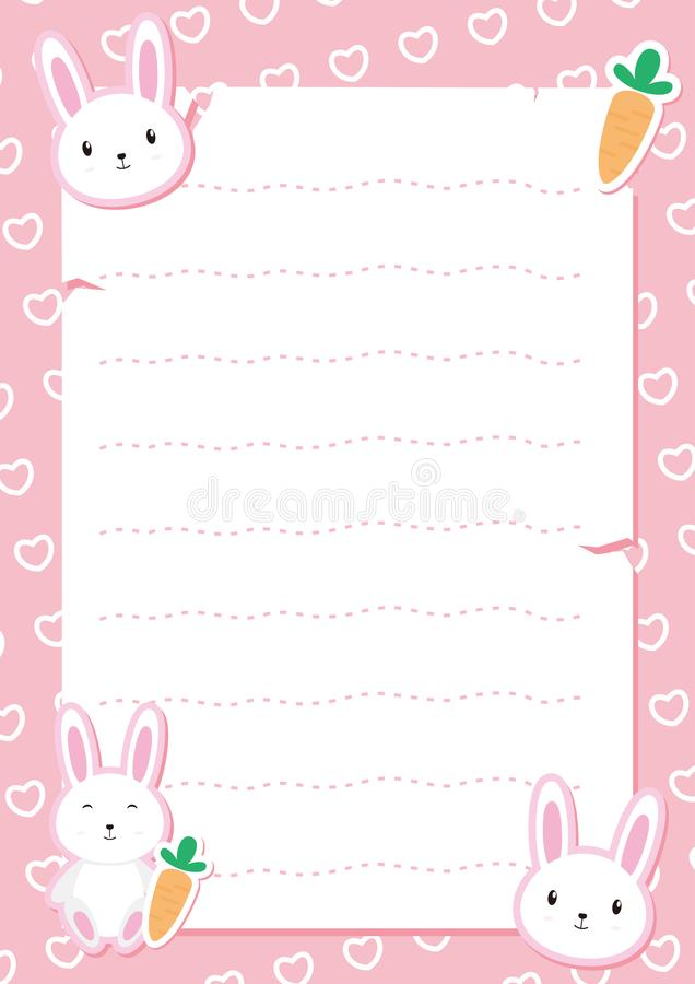 Free Cute Bunny Frame Vector With Pink Color Royalty Free Stock Photos - 106698998