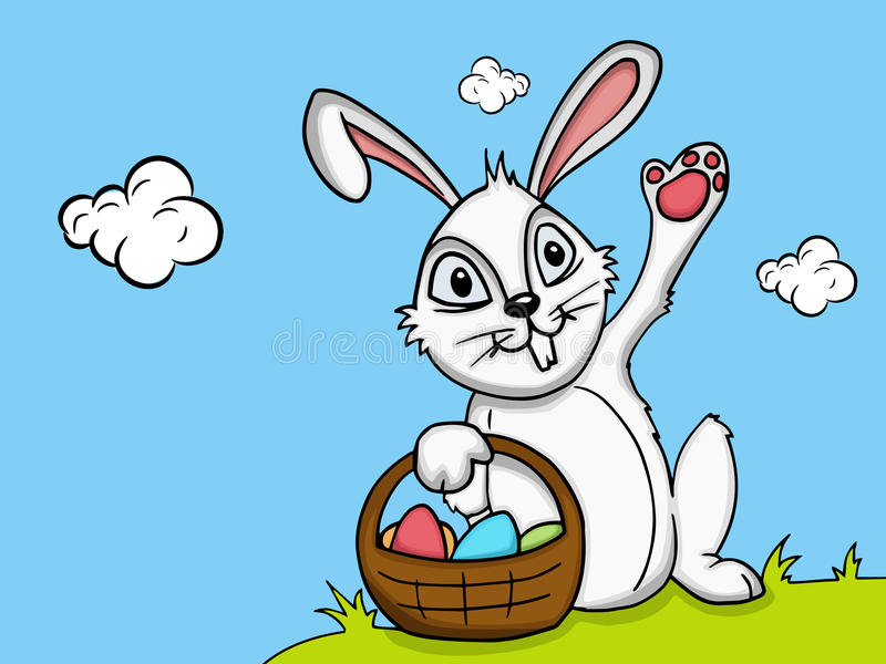 Cute bunny for Happy Easter celebration. vector illustration