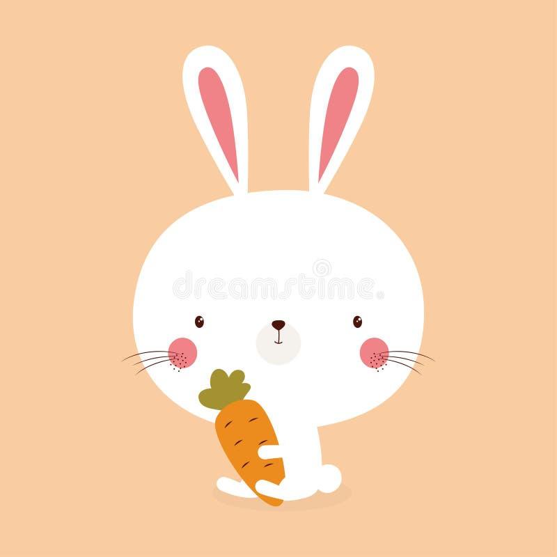 Cute bunny rabbit royalty free illustration