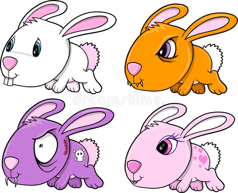 Download Cute Bunny Rabbit Set stock vector. Image of vector, bunny - 24234861
