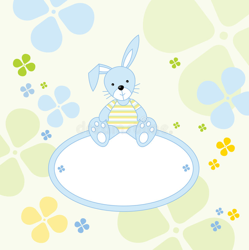 Cute Bunny - Send A Message Royalty Free Stock Photos