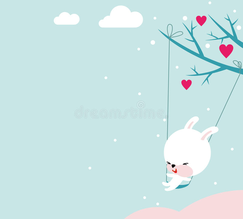 Download Cute Bunny Valentine stock vector. Illustration of blue - 20939657