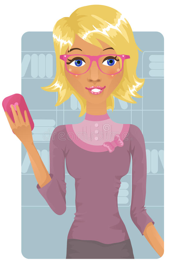 Cute business woman stock illustration