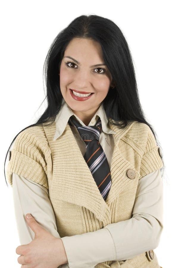 Download Cute business woman stock image. Image of feminine, crossed - 7959835