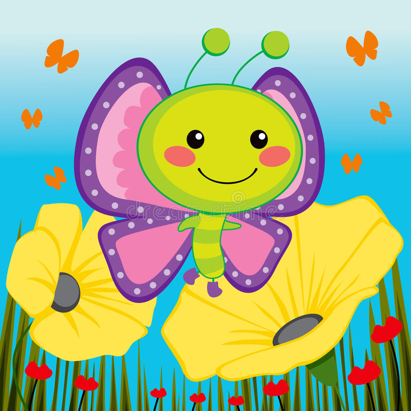 Cute Butterfly vector illustration