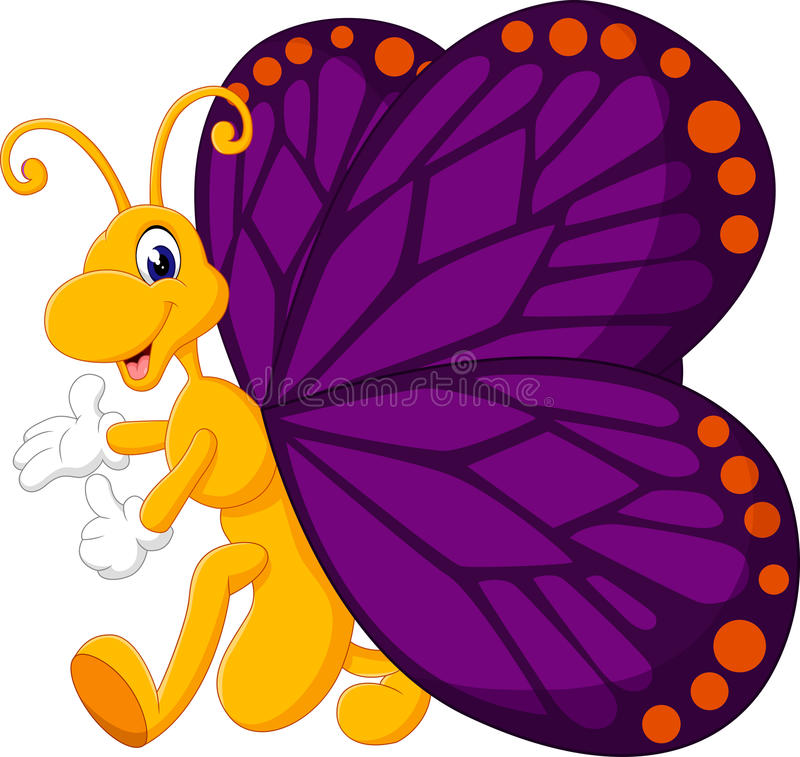 cute butterfly cartoon stock vector image 62047918
