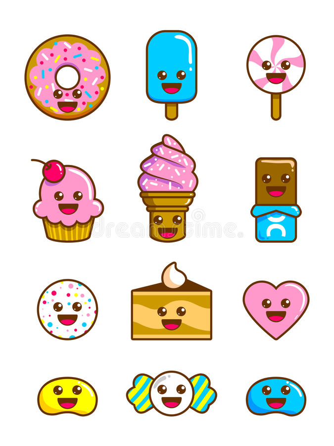 Cute Candy. A set of cute candy characters