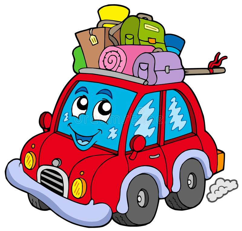 Download Cute car with baggage stock vector. Image of isolated - 12399261