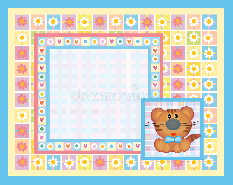 Cute card for baby. Card made in vector, Adobe Illustrator 8 EPS file vector illustration
