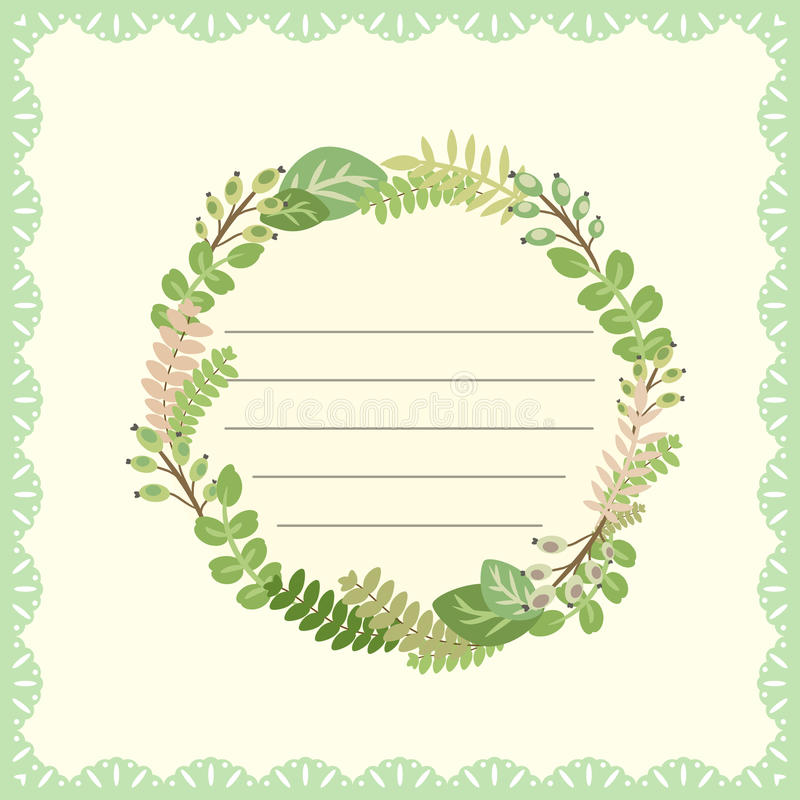 Cute card with flower bouquet royalty free illustration