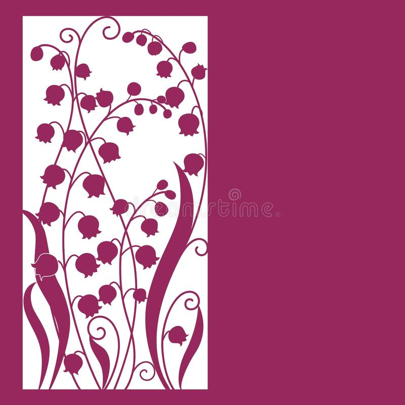 Cute card with flowers . Lily of the valley vector illustration