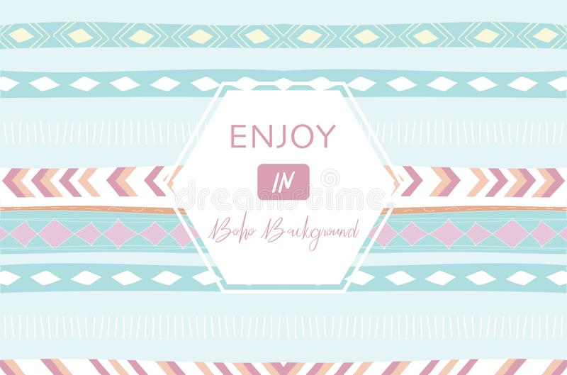 Cute cards for banners,Flyers,Placards with boho background royalty free illustration
