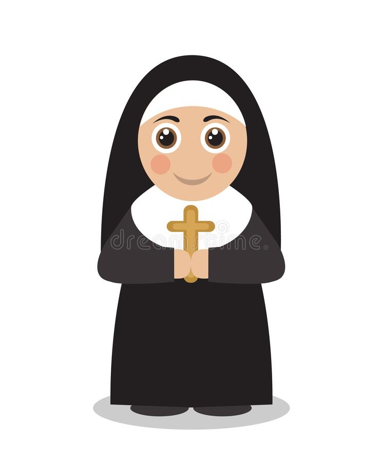 Nun Cartoon Drawing