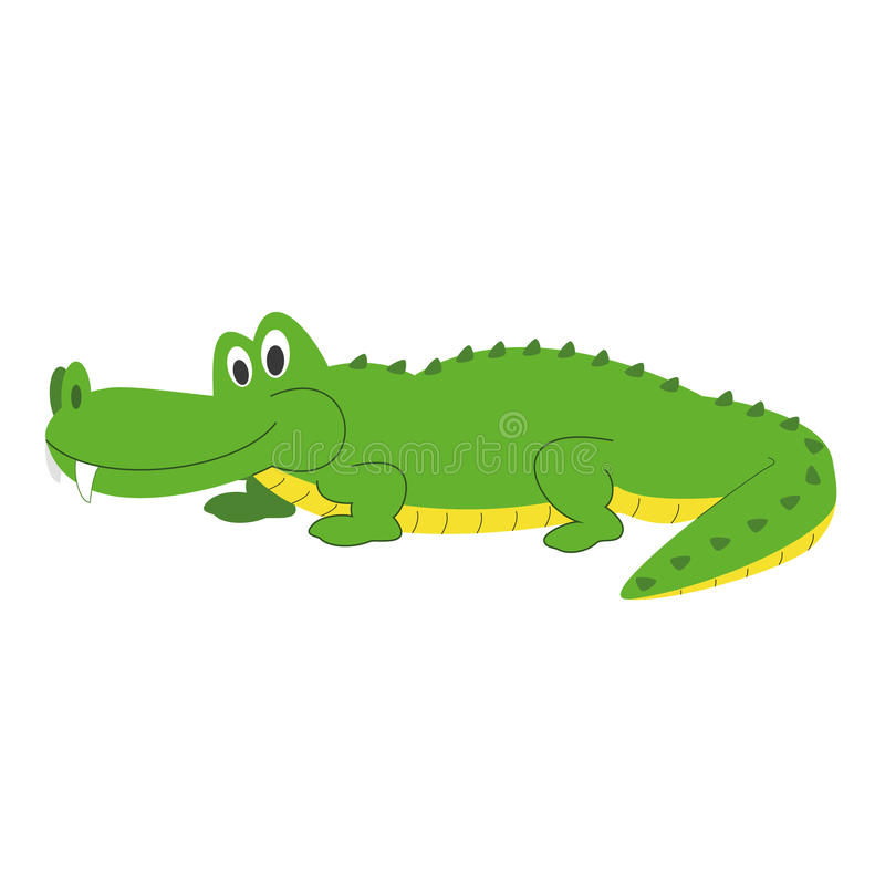 Cute Cartoon Alligator Vector Illustration Stock Vector ...