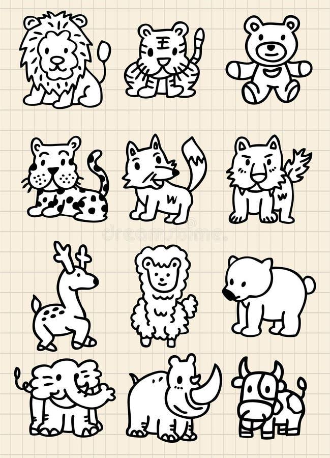 Cute cartoon animal icon royalty free illustration