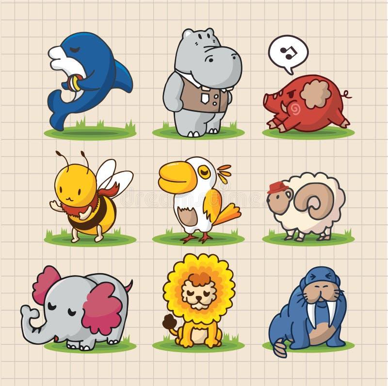 Download Cute cartoon animals stock vector. Illustration of animal - 16804487