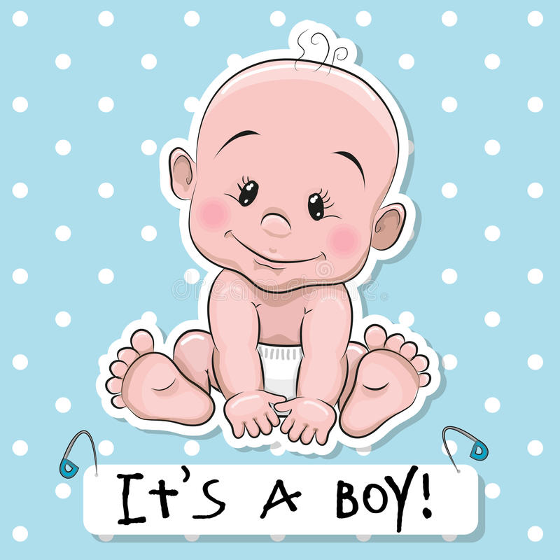 cute cartoon baby boy stock vector illustration of cheerful 58425769 rh dreamstime com funny baby boy cartoon images funny baby boy cartoon images