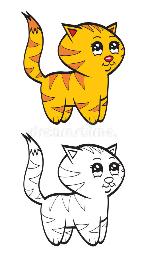 Cute cartoon baby tiger. An illustration of a cute cartoon baby tiger vector illustration