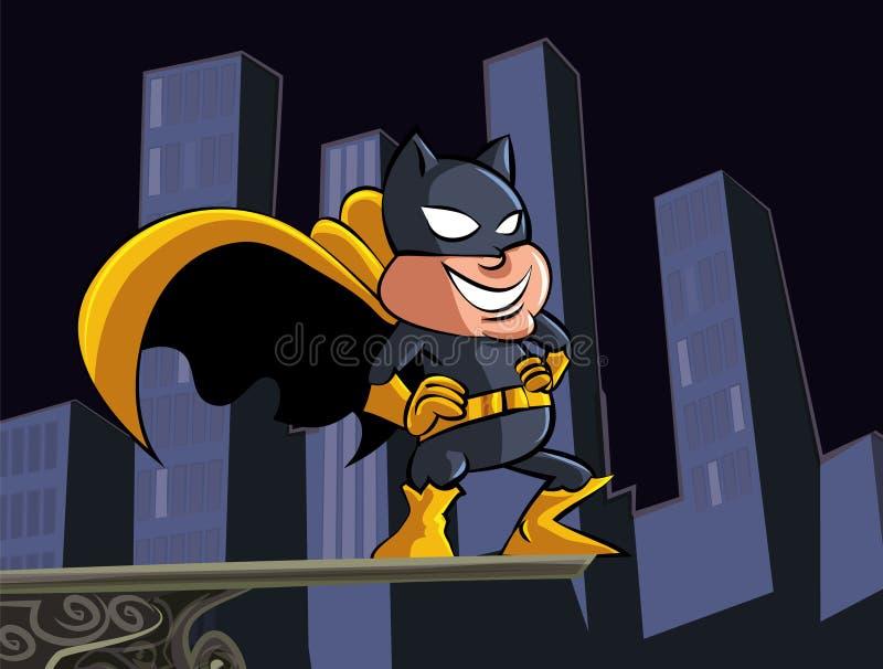 Cute Cartoon Batman Masked Superhero Royalty Free Stock Photos